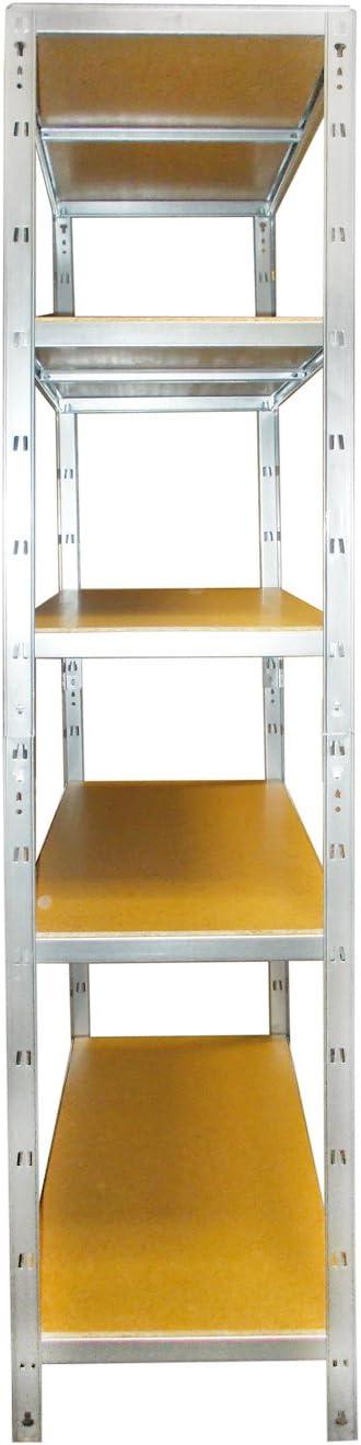 ideal f/ür Keller//Garagen max 5 Fachb/öden 875 KG Traglast Regal f/ür schnelleren Zusammenbau versando VLR5X175 Lagerregal//Steckregal verzinkt 178 x 90 x 40 cm