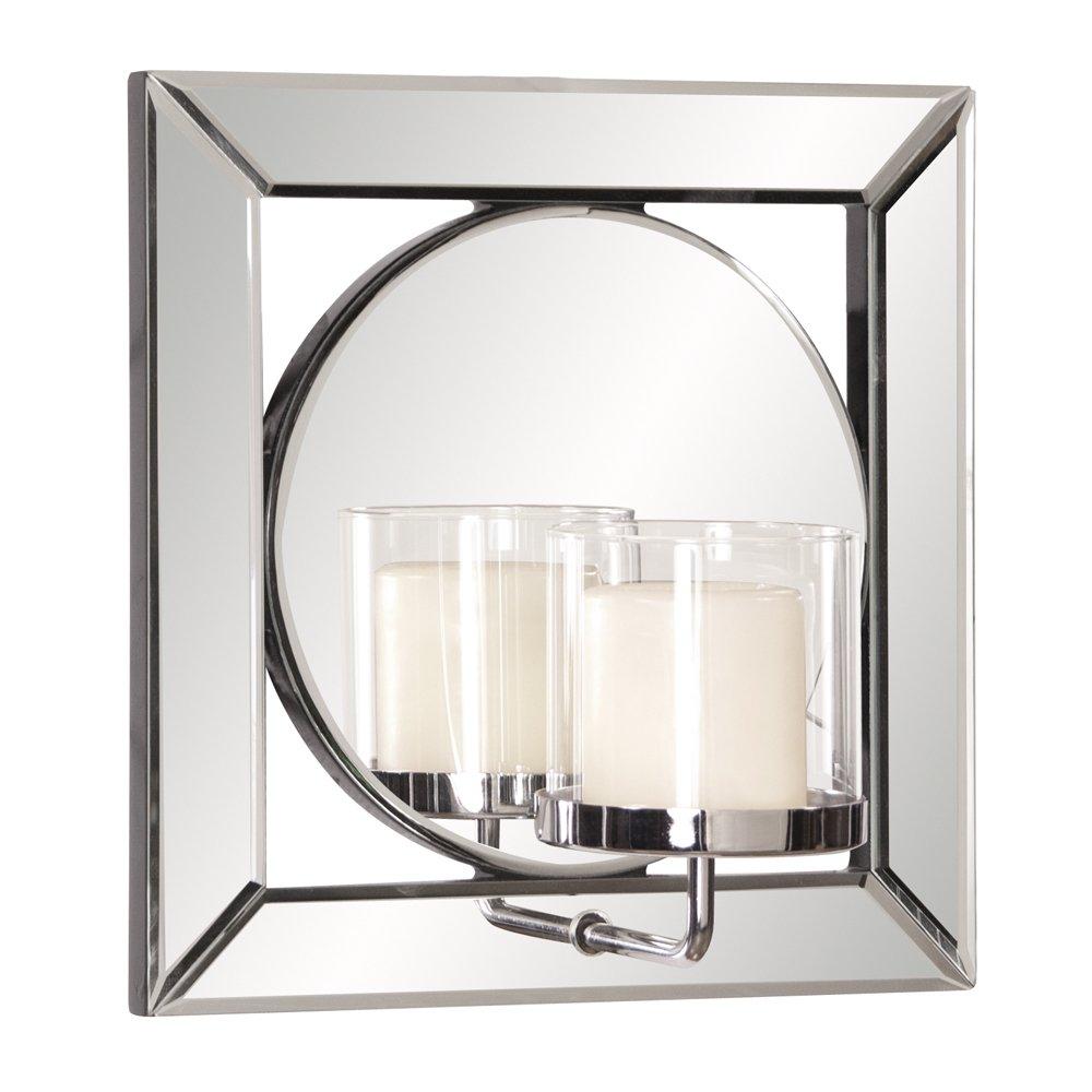 Howard Elliott 99073 Lula Square Mirror with Candle Holder