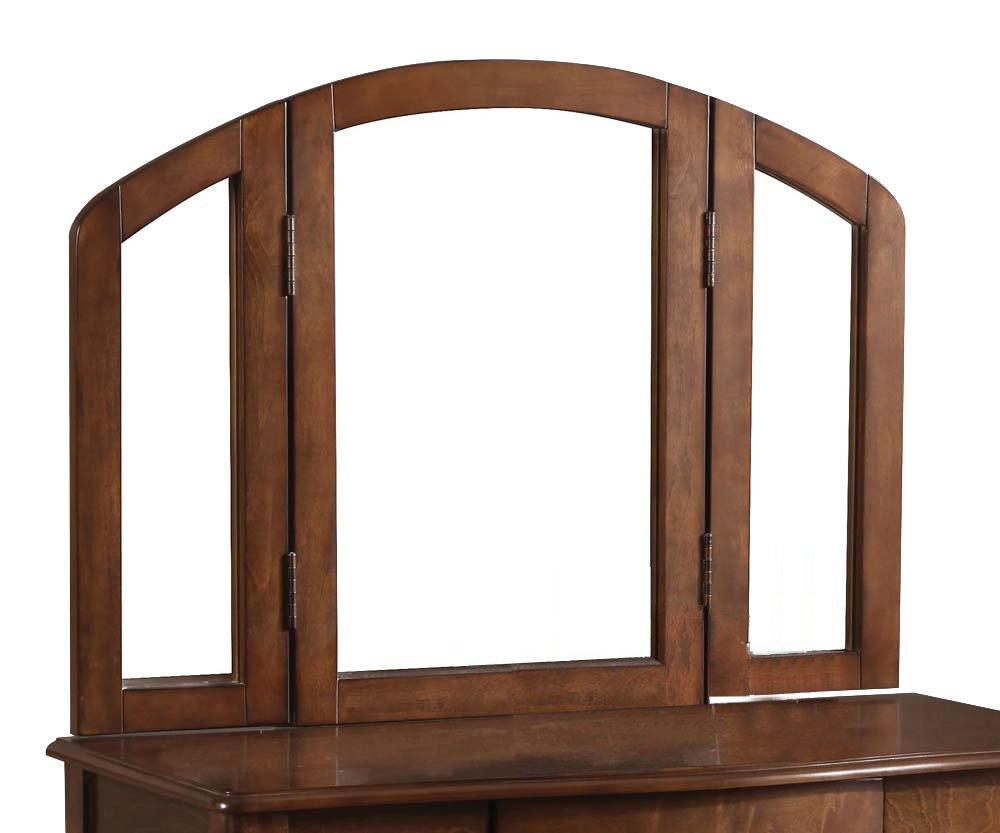 ACME Furniture Maren Trifold Vanity Mirror, Oak by Acme Furniture