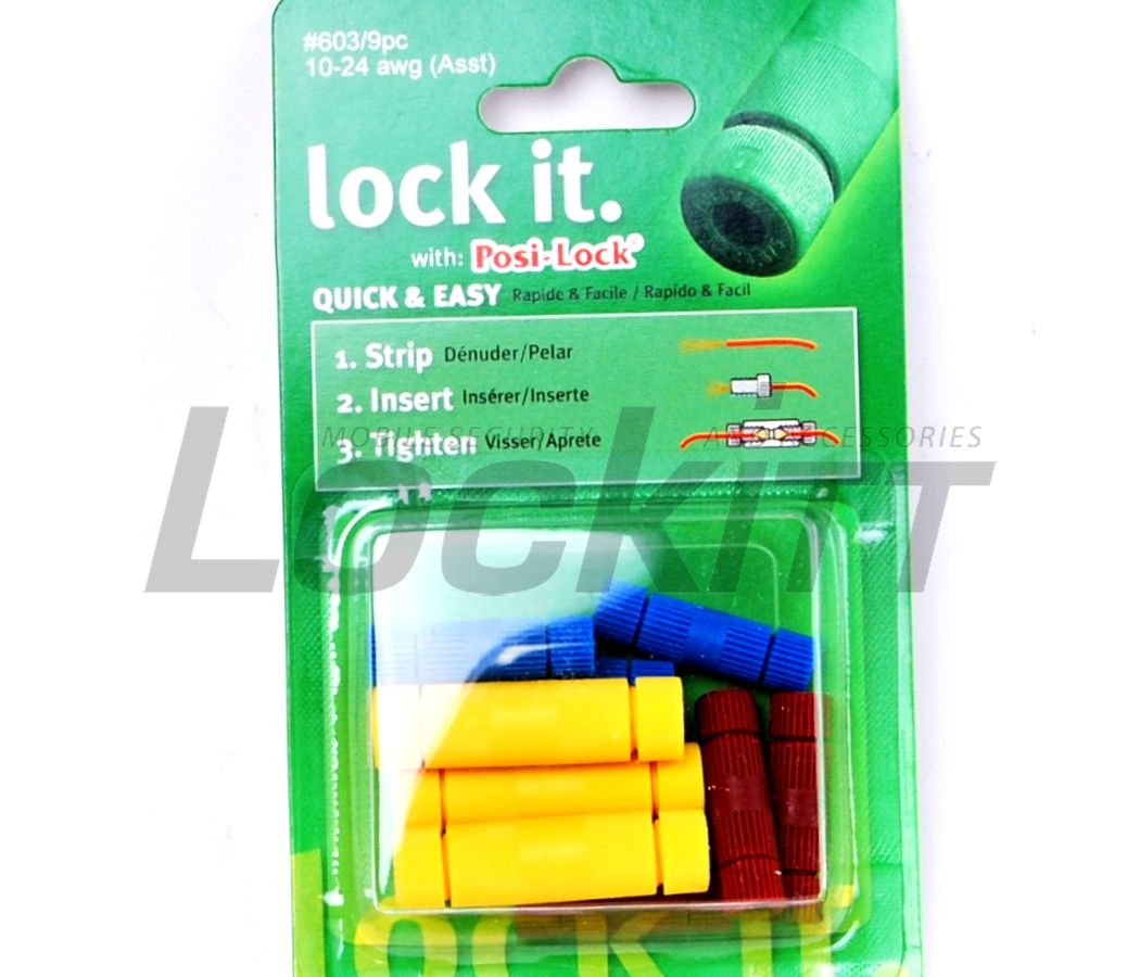 Posi-Lock® wire connectors Assortment pack 10-24 awg Posi-Products® #603/9