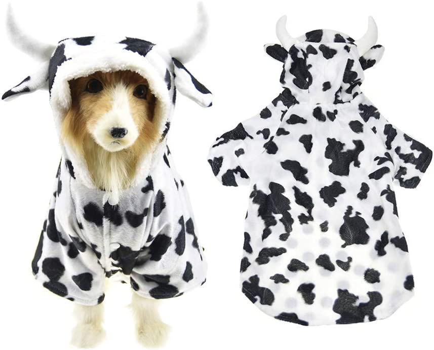 FLAdorepet Halloween Dog Shark Costume Outfits for Large Dog Winter Fleece Puppy Jacket Coat Hoodie Funny Dog Clothes Golden Retriever