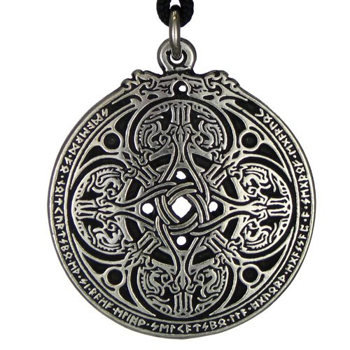 Dragon Shield Celtic Knot Pendant Talisman for Soldiers & Military (Mens Celtic Knot)