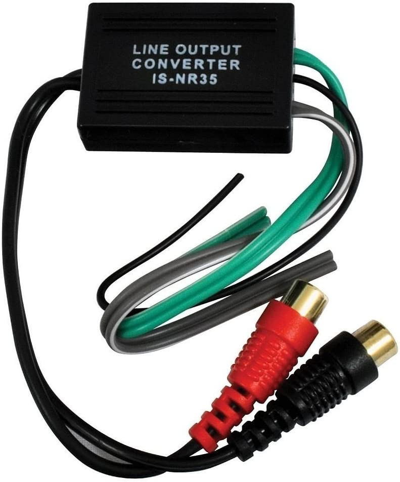 Lautsprecher Draht Zu Rca Hi Low Adapter Konverter Line Level Audio Output Video Kfz Audio Hifi