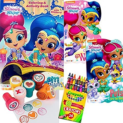 Shimmer And Shine Coloring Book Board Books Set