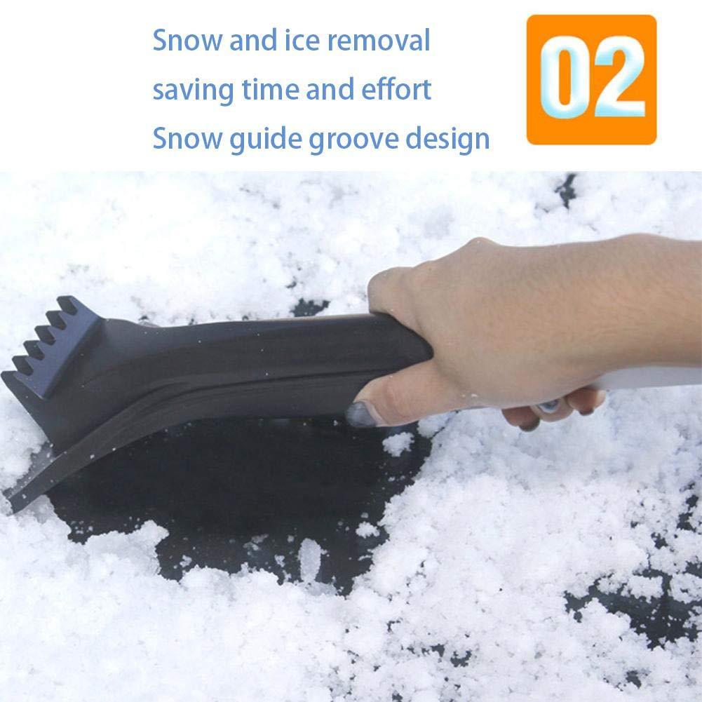 64cm Dadahuam Auto Schneeschaufel Eiskratzer Abnehmbar Mit Transport Tasche Lackierung Schonend Schnee R/äumend Ca