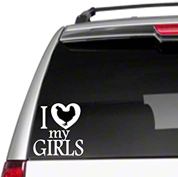 I LOVE MY CHICKENS FARM PET FUNNY DECAL STICKER ART CAR WALL