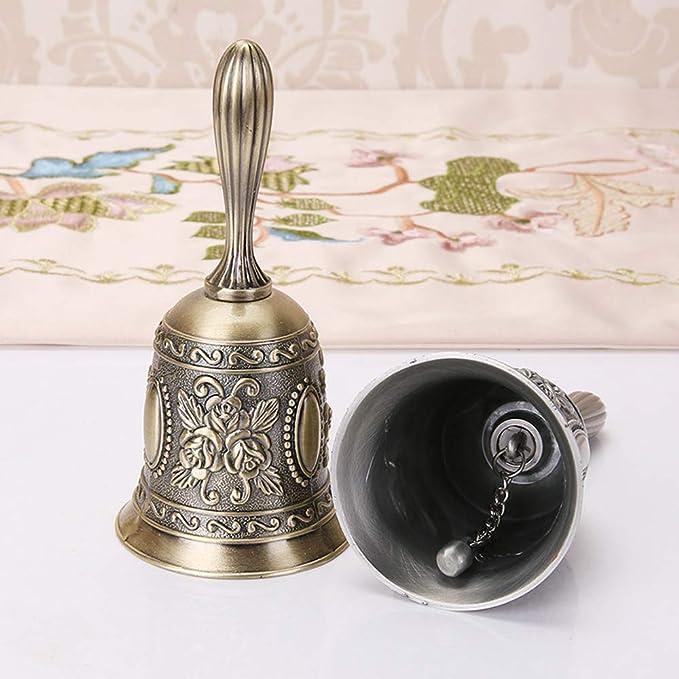 anticuada para decoraci/ón del hogar Productos de oficina para decoraci/ón de oficina Campanas de llamada de escritorio campana de mano de metal Campana de mano de aleaci/ón de zinc vintage