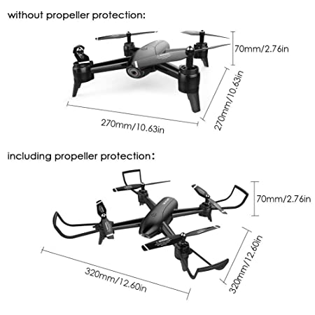 Amazon Com Rc Drone With 1080p Hd Camera Drone Optical Flow Real
