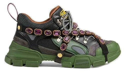 Gucci Flashtrek Sneaker with Removable Crystals Uomo Donna Scarpa ... 978c0823e5c3