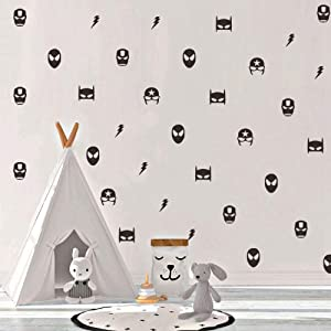 Finduat 57 Pcs Marvel Superhero Avenge Wall Stickers Decal, Marvel Kids Removable Wall Stickers Boys Room Decor, Vinyl Wall Decals for Children Baby Kids Boys Bedroom, Nursery Decor