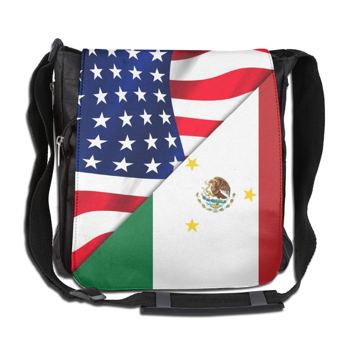 Unisex Stylish Satchel Messenger Bags American And Mexico Flag Crossbody Shoulder Bag Hiking Bags For School//Work//Trips