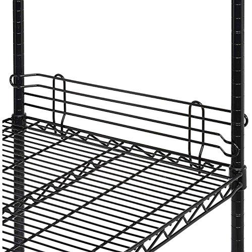 Nexel Wire Shelf Ledge, Black Epoxy Finish, 24