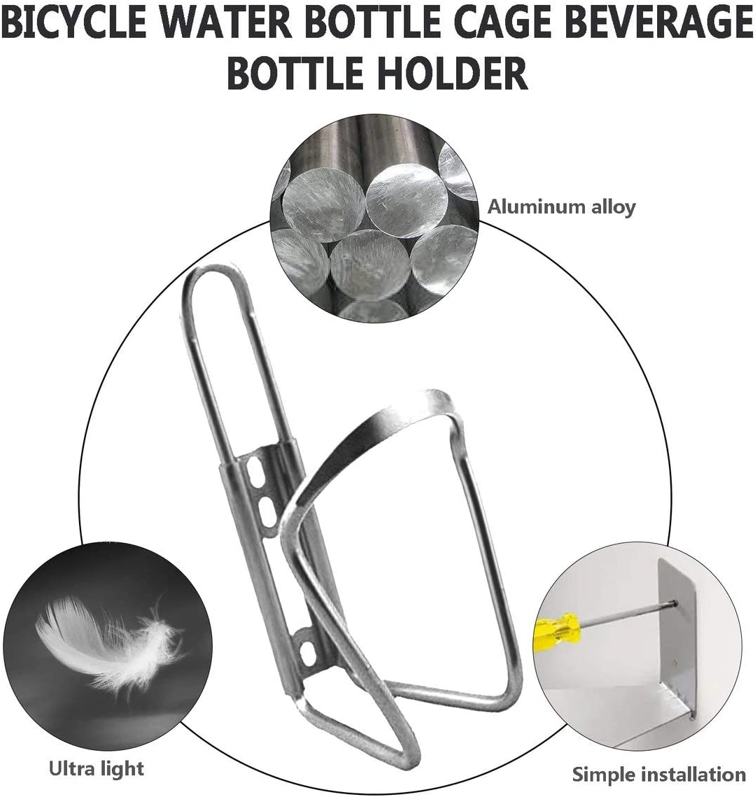 YXGS Ultra Lightweight Aluminum Alloy Bicycle Water Bottle Holder Cage MTB Road Bike Drink Bottles Mount Rack Cycling Accessories