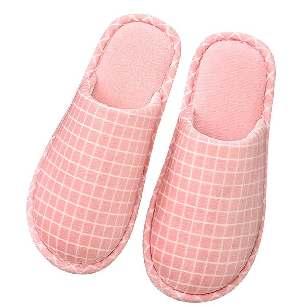 SLIPPERSXSJ Pantoufles en Coton, Sac de Couchage intérieur épais pour Femmes à la Maison avec Une Drag Confortable et Douce en Coton, 40-41 (25-25.5cm)