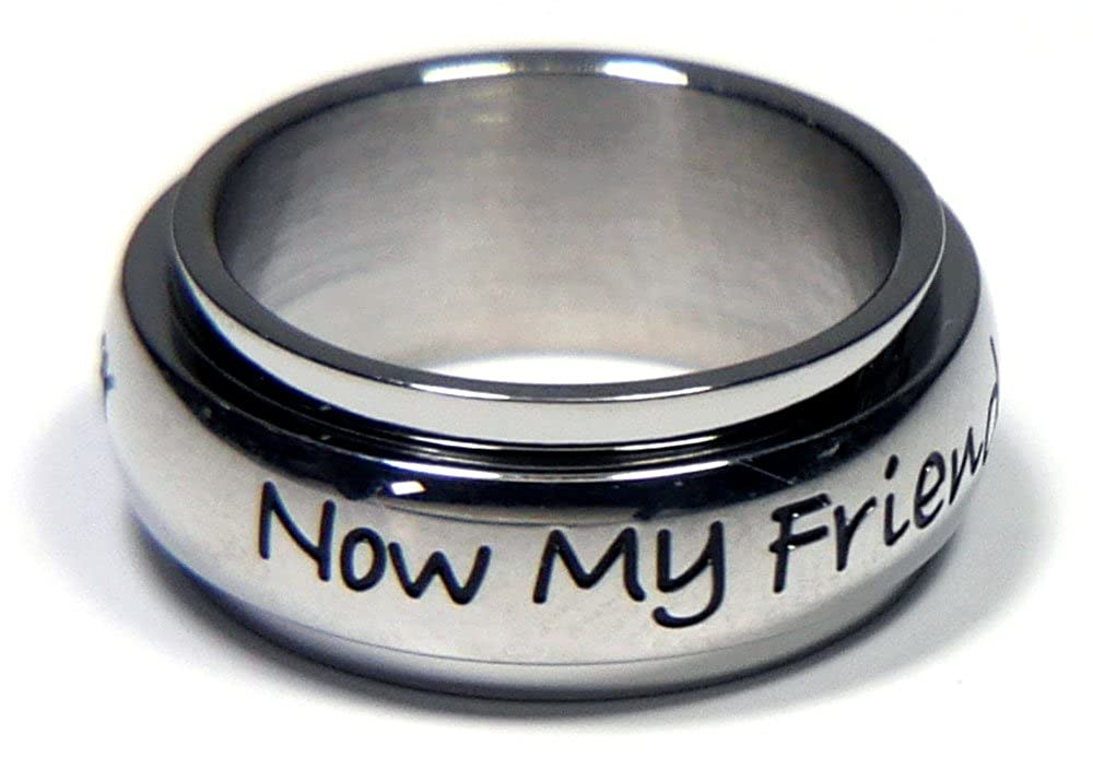 Joyful Sentiments Family Jewelry Stainless Steel Always My Daughter Spinner Ring
