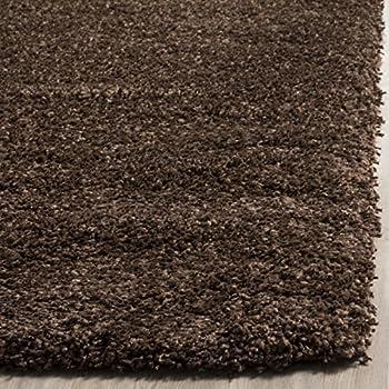 Safavieh California Premium Shag Collection SG151-2727 Brown Area Rug (4 x 6)