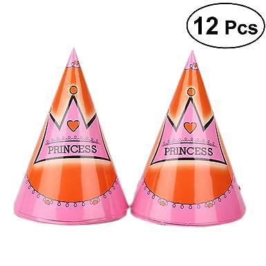 Amazon.com: 12 piezas Bonito Pastel cono Sombreros Gorro De ...