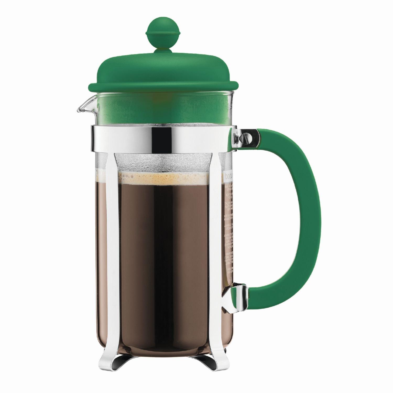 Bodum French Press Coffee Maker w/ Plastic Lid - Green - 3 cup/0.35l/12oz