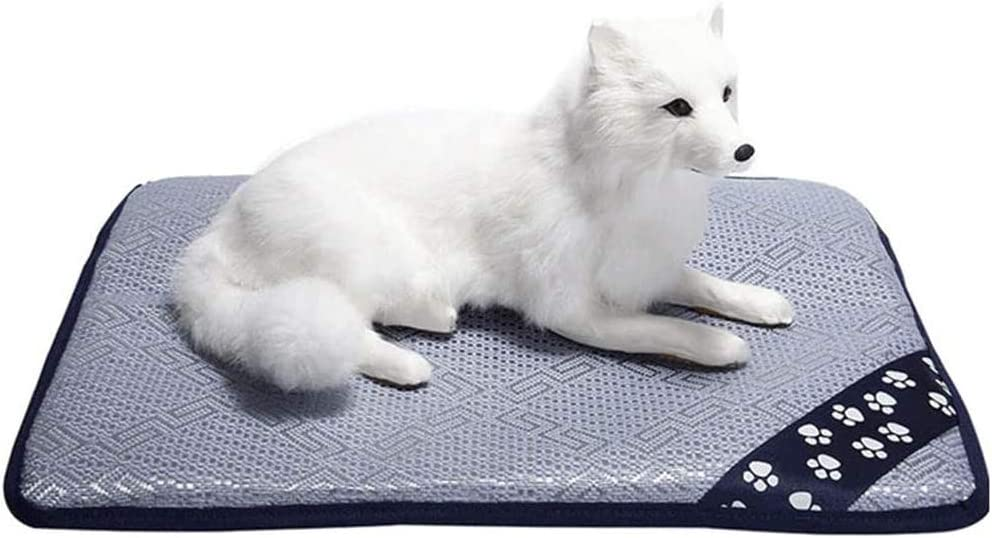 OMLTER Summer Heatstroke and Cooling Pet Self-Cooling Mat, Low-Carbon Environment-Friendly and Comfortable Soft Pad, Heat-dissipating Pad for Cats and Dogs,L