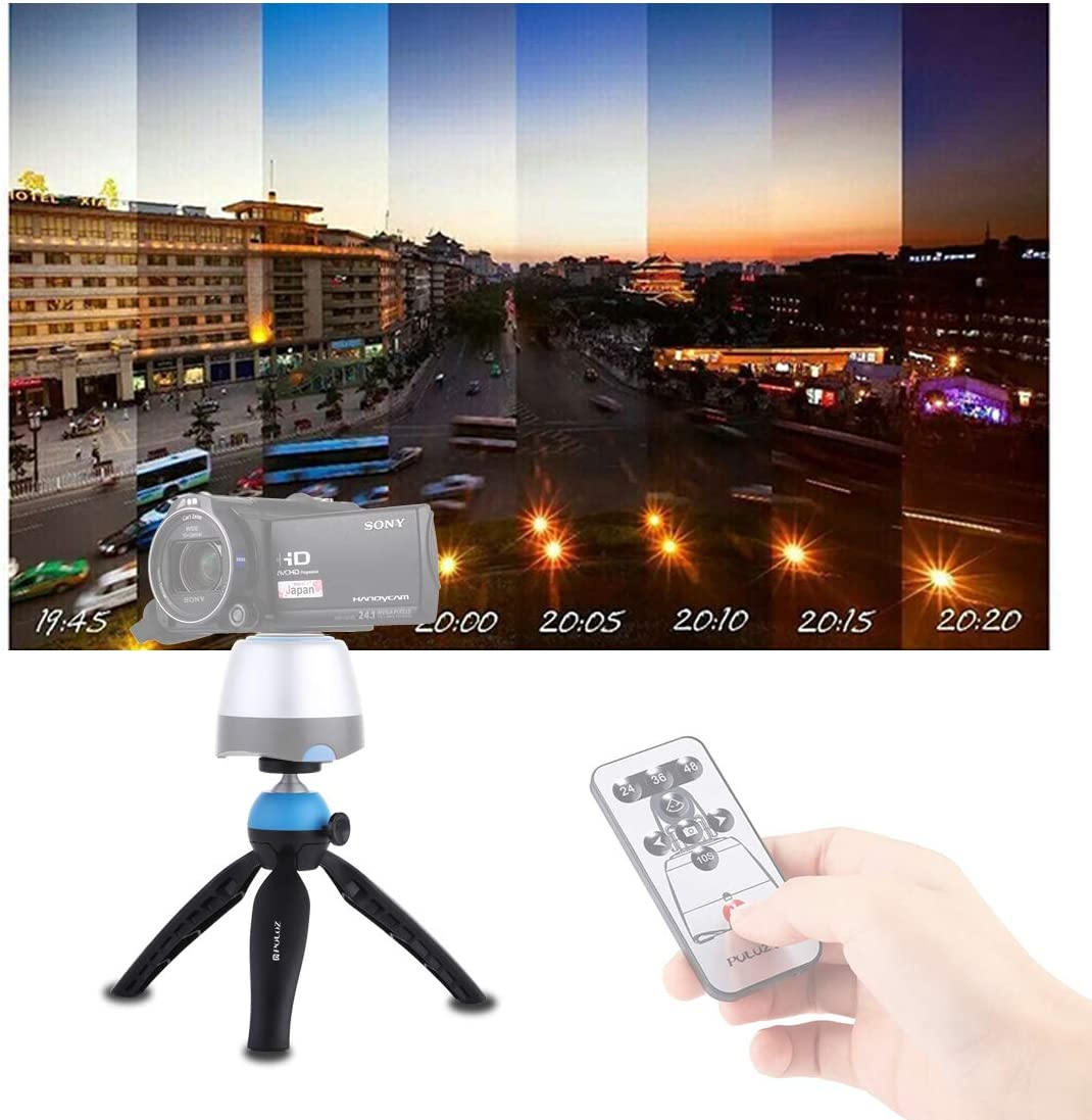 Todayday Soft Camera Protective case Pocket Mini Tripod Mount with 360 Degree Ball Head for Smartphones DSLR Cameras Color : Blue GoPro