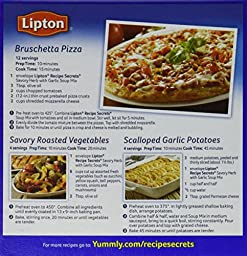 Lipton Recipe Secrets Savory Herb with Garlic Soup and Dip Mix, 2.4 oz (Pack of 12)