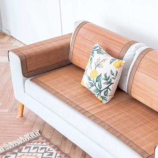 TopJiä El Verano Funda De Sofá con Bambú, 60x60cm 24