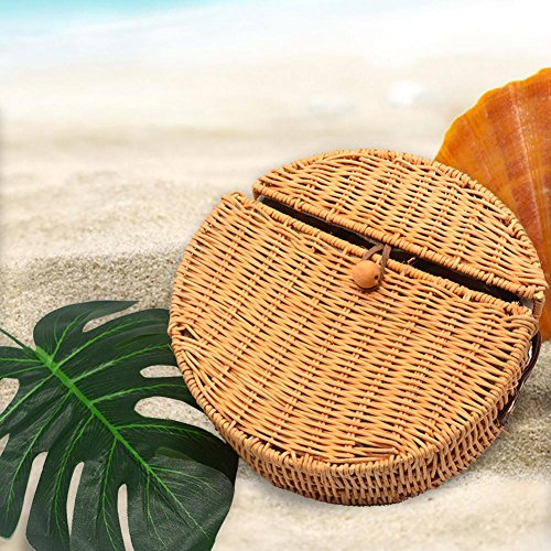Retro Dedeka Crossbody Nuevo Woven Rattan Aire Beach propósito Sling 2018 Bolso Mujeres Dual Bag Circular Al Libre Travel Straw XWrYwBpPqY