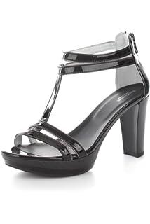 Nero Giardini P717872d Naplak Nero, Sandales Pour Femme - Noir - Noir, 35 EU