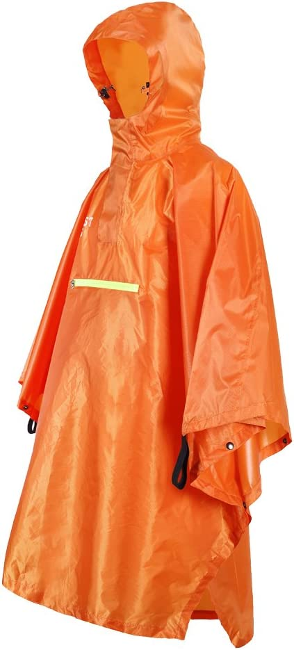 Homyl Regenponcho wasserdicht Regenmantel Damen Herren Regencape Reflektierende Streifen