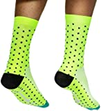 HD SPORTS Men's Cycling Socks,Breathable Cushioned Athletic Crew Socks for Cycling Trekking Skiing Tracing   High Performance Arch Compression Cushioned Quarter Socks Size 6-11