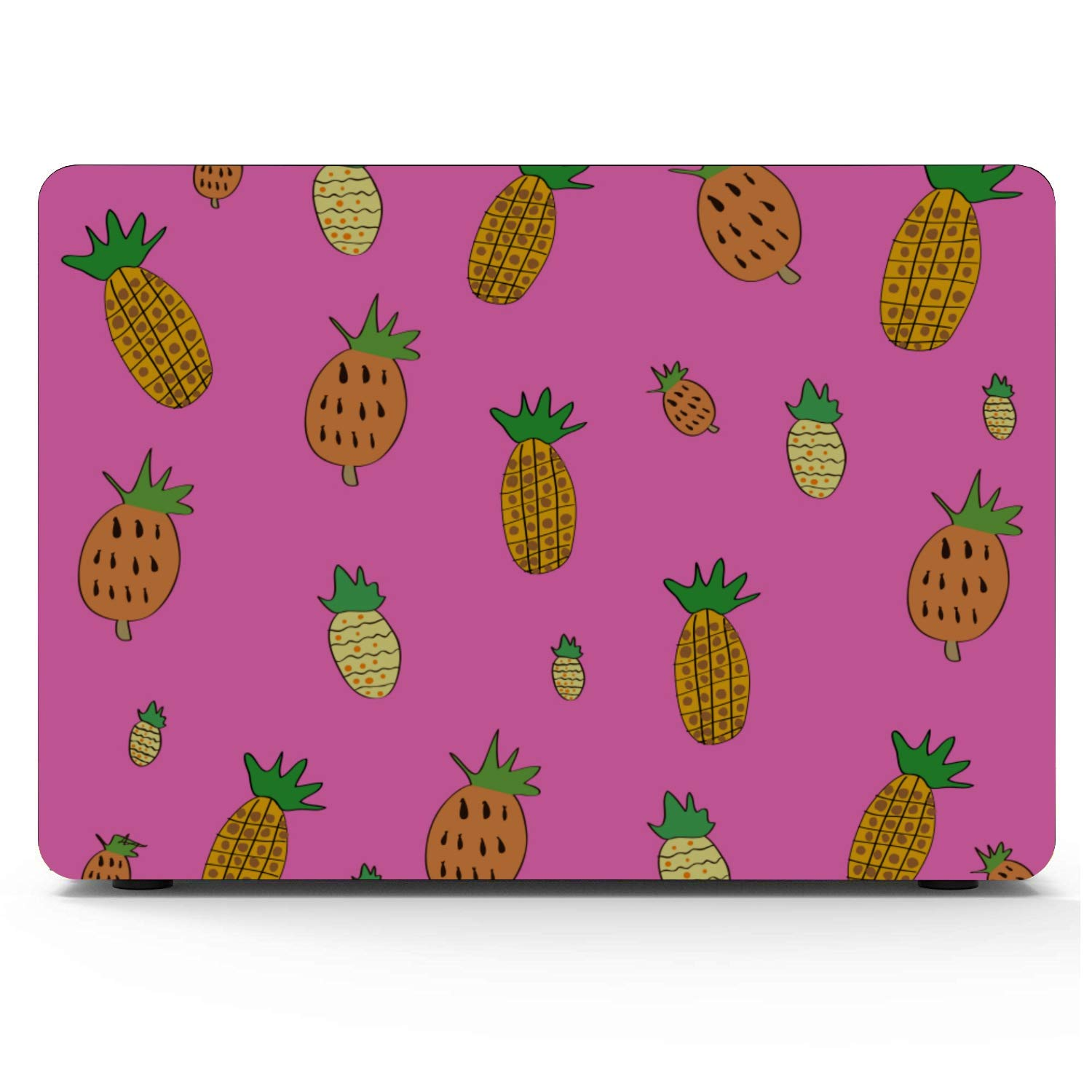 MacBook Pro Screen Protector Summer Romantic Fruit Cute Pineapple Plastic Hard Shell Compatible Mac Air 11 Pro 13 15 Laptop Cover Case Protection for MacBook 2016-2019 Version