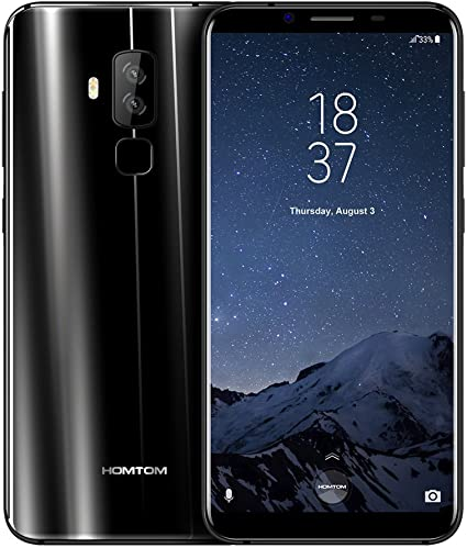 Smartphone Libre, HOMTOM S8 4G Móviles de 5.7 HD IPS Android 7.0 (Dual Cámara 21MP + 16MP 4GB RAM 64GM ROM Con 3400mAh Batería MTK6750T 1.5Ghz Quad Core Huella Datilar Dual Sim):