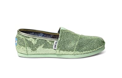 a6bab423053c Amazon.com | Toms Youth Classic Glitter Shoes Pink, Size 5 M US Big ...