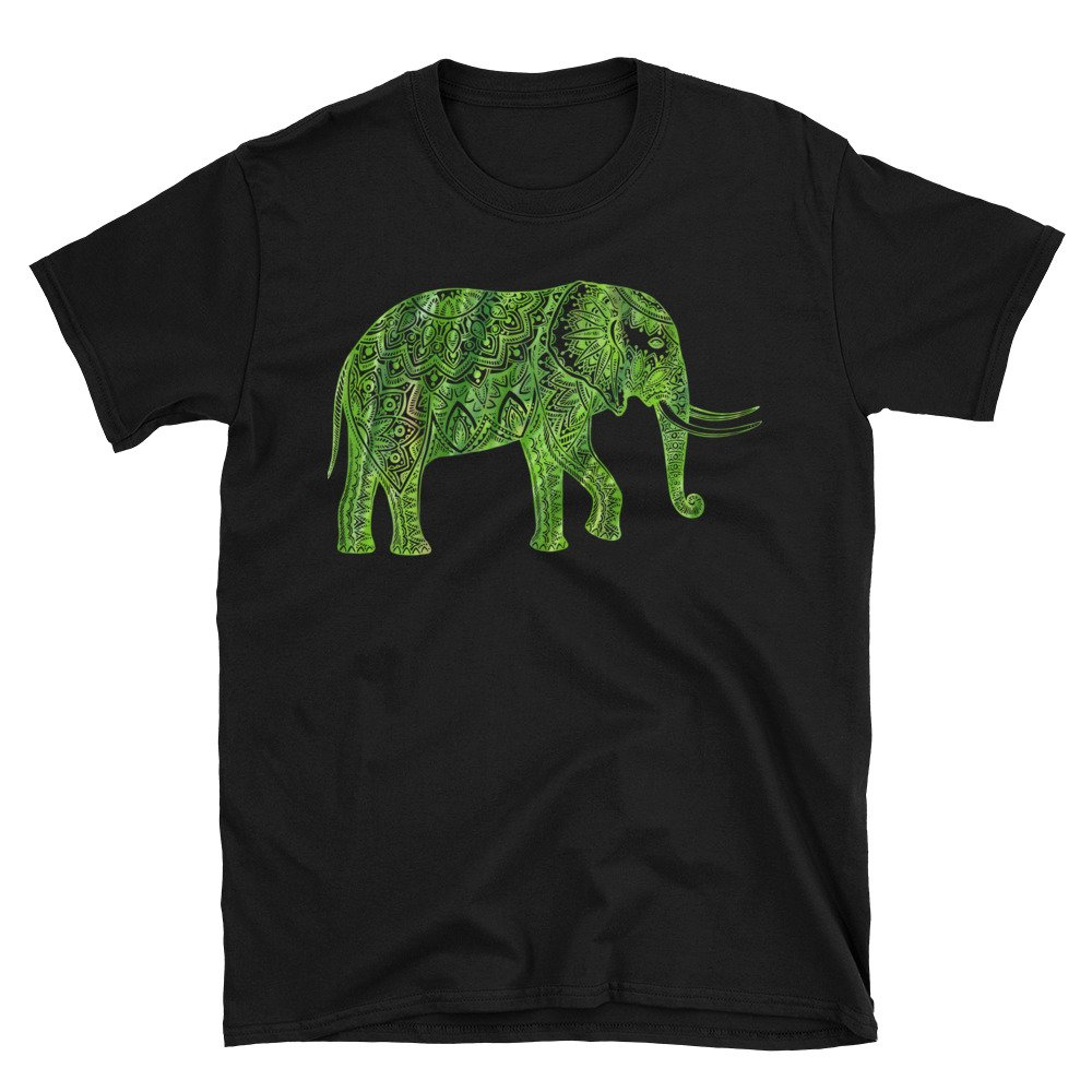 Arkansas Made Mandala Elephant Unisex Shirt
