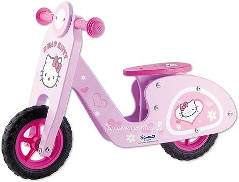 hello kitty scooter-bicicleta de madera sin pedales de aprendizaje....