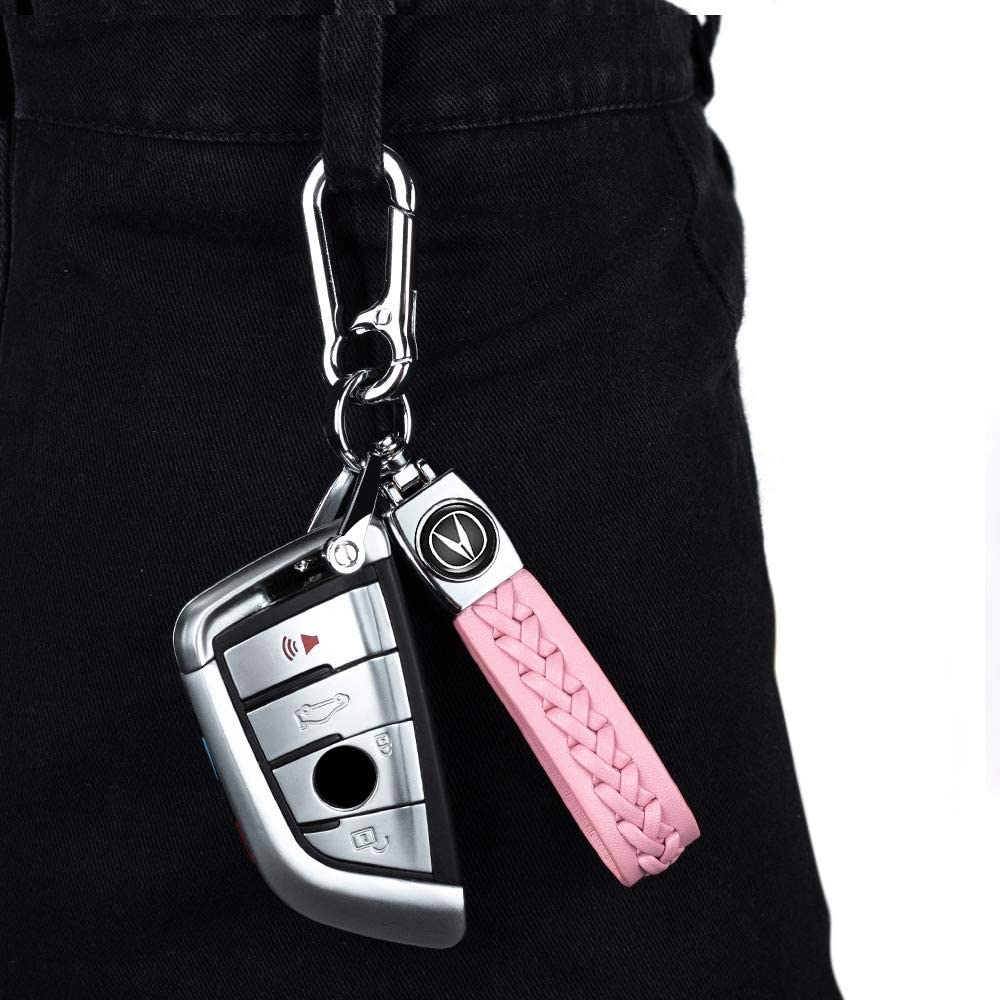 1Pack Leather Key Chain Suit for Acura keychain keyring Business Gift Birthday Present for Men and Woman Elegant