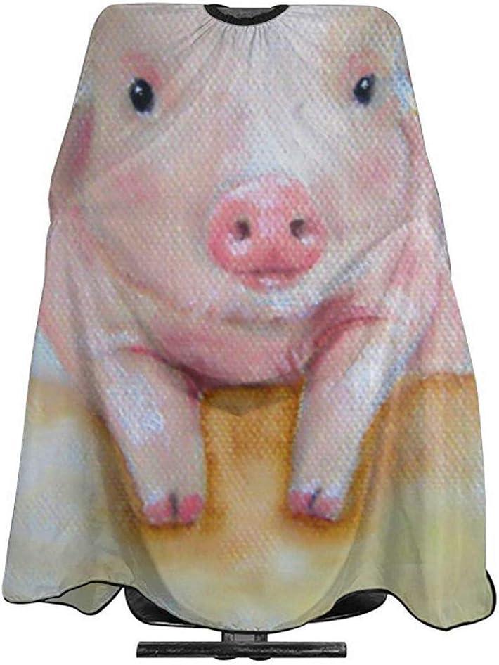 Delantal de corte de pelo Pink Pig Out Cape Bib Gown Salon de tela Champú tinte para el cabello Chemical Barber Salon Delantal de capa