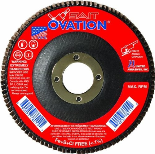 United Abrasives- SAIT 78036 Ovation Flap Disc, 6-Inch by 7/8-Inch, 40 Grit, 10-Pack