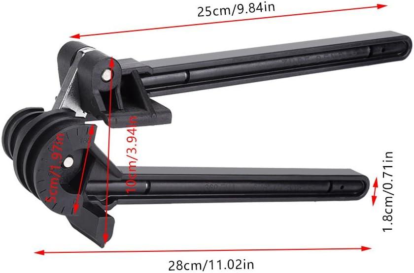 Schwarz die perfekte Biegezange f/ür 3//16 Zoll 1//4 Zoll 5//16 Zoll 3//8 Zoll Rohre 4-in-1 180/° Schweres Rohrbiegewerkzeug