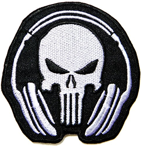 Punisher Skull GOD WILL JUDGE OUR ENEMIES Tactical Military Army Cartoon Comic Patch Sew Iron on Embroidered Applique Collection DIY By ()