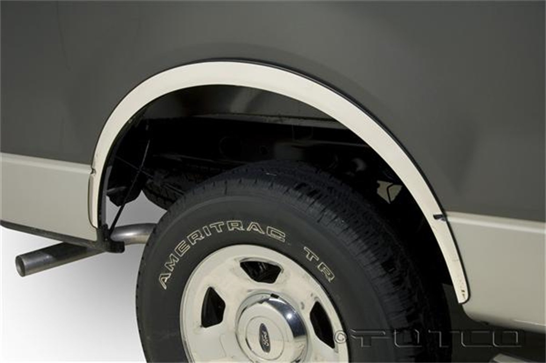 Amazon com putco 97219 stainless steel full fender trim kit for ford f150 automotive