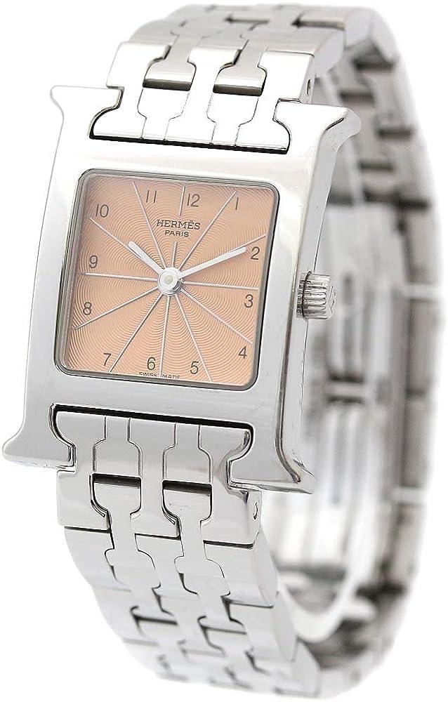 エルメス HERMES Hウォッチ HH1.210 腕時計 シルバー レディース クオーツ ピンク文字盤 []