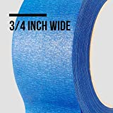 LICHAMP 10 Pack Blue Painters Tape 3/4 inch, Blue