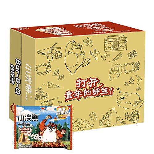 China food co. LTD. 极速发货China After 80 snacks(统一小浣熊 干脆面{烤肉味}46g×30袋 Crispy Instant Noodles)Bar-B-Q包邮 by China food co. LTD.