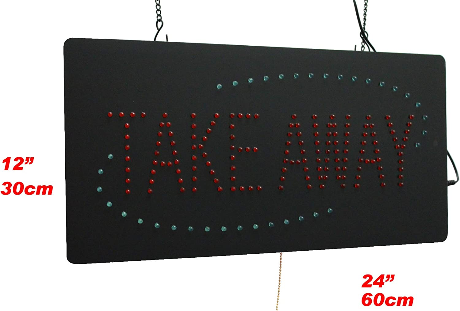 Shop Take Away Sign LED Neon Open Display TOPKING Signage Business Store Window Grand Opening Gift