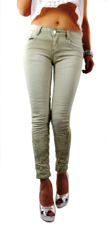 if she Pantalones Vaqueros para Mujer Mozzaar en Color Beige ...