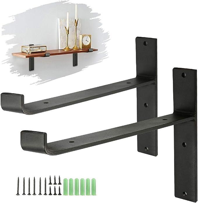 8x London Grey Metal Shelf Shelving Support Wall Mount Brackets 7 Sizes