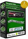 Clarion Kit iPod/iPhone/Android avec lecteur CD et stéréo USB pour Peugeot 206