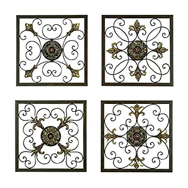 Aspire Metal Wall Plaque Set, Antique Bronze