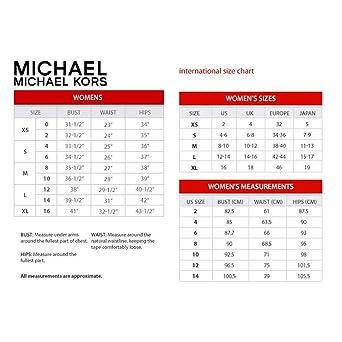 Michael Michael Kors Womens Safari Solids Lace Up Cross Back One